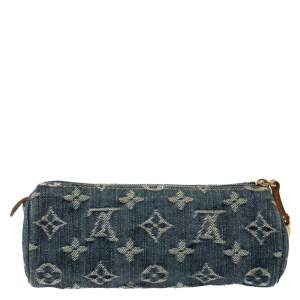 Louis Vuitton Blue Monogram Denim Rousse Speedy Pouch