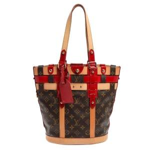 Louis Vuitton Red Monogram Canvas and Leather Limited Edition Rubis Neo Bucket Bag