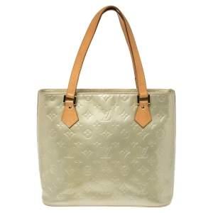 Louis Vuitton MInt Green Monogram Vernis Houston Bag