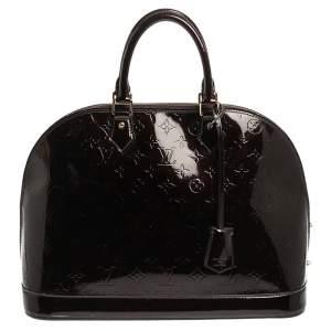 حقيبة لوي فيتون ألما فيرنيه مونوغرامية بنفسجية كبيرة
