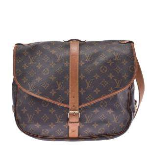 Louis Vuitton Brown Monogram Canvas Saumur 35 Bag