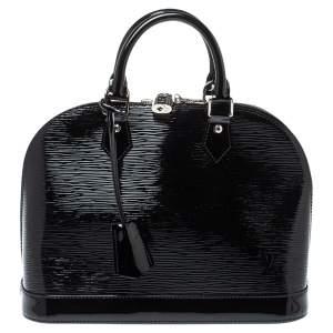 حقيبة لوي فيتون ألما جلد أيبي أليكتريك سوداء PM