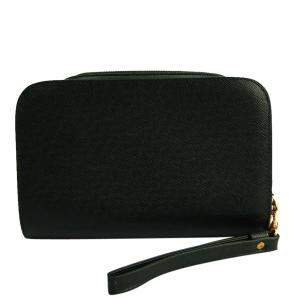 Louis Vuitton Black Taiga Leather Baikal Clutch Bag