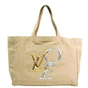 Louis Vuitton Beige/Brown Toile Cabas That's Love GM Tote Bag