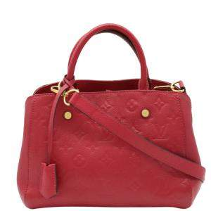 Louis Vuitton Red Monogram Empreinte Montaigne BB Bag