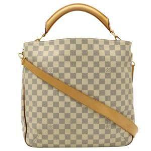Louis Vuitton Blue/White Damier Azur Canvas Soffi Bag