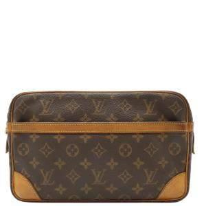 Louis Vuitton Brown Monogram Canvas Pochette Compiegne 28 Bag