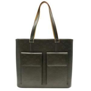 Louis Vuitton Black Monogram-embossed leather Mat Wilwood Tote Bag