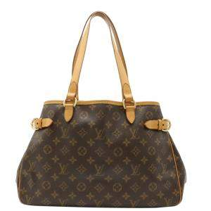 Louis Vuitton Brown Monogram Canvas Horizontal Tote Bag