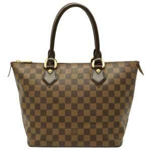 Louis Vuitton Brown Damier Ebene Saleya PM Tote Bag