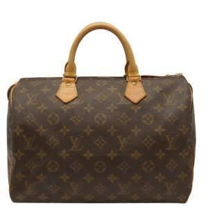 Louis Vuitton Brown Monogram Canvas Speedy 30 Boston Bag