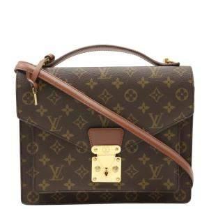 Louis Vuitton Brown Monogram Canvas Monceau 28 Bag