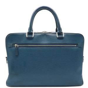 Louis Vuitton Blue Epi Leather Porto Documents Business Bag