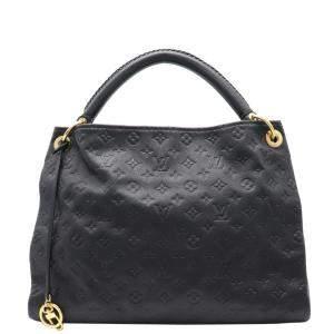 Louis Vuitton Black Monogram Leather Empreinte Artsy MM Tote Bag