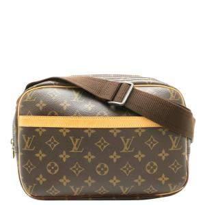 Louis Vuitton Brown Monogram Canvas Reporter PM Bag