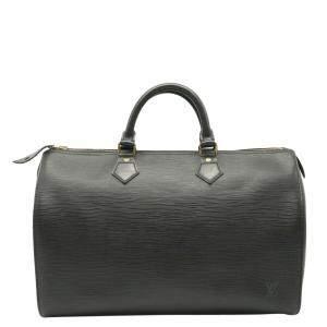 Louis Vuitton Black Epi Leather Speedy 40 Boston Bag