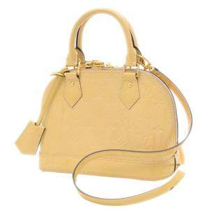 Louis Vuitton Yellow Monogram Vernis Alma BB Bag