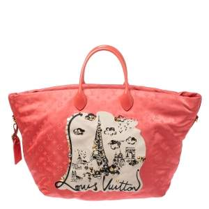 Louis Vuitton Coral Monogram Nylon Nouvelle Vague Beach Bag
