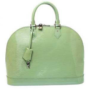 Louis Vuitton Mint Green Electric Epi Leather Alma GM Bag
