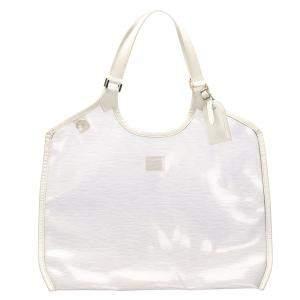 Louis Vuitton White Epi Leather Plage Baia Tote Bag