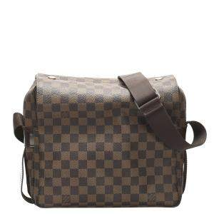 Louis Vuitton Brown Damier Ebene Canvas Naviglio Messenger Bag
