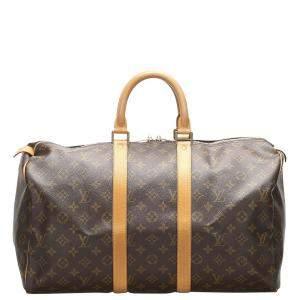 حقيبة لوي فيتون دوفل كيبال 45 كانفاس
