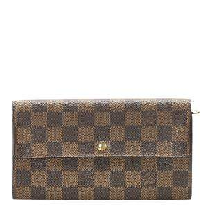 Louis Vuitton Brown Damier Ebene Canvas Sarah Wallet