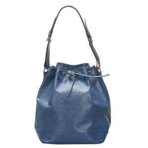 حقيبة لوي فيتون نوي جلد إيبي أزرق