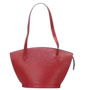 Louis Vuitton Red Epi Leather Saint Jacques Long Strap PM Bag