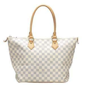 Louis Vuitton White Damier Azur Canvas Saleya MM Bag