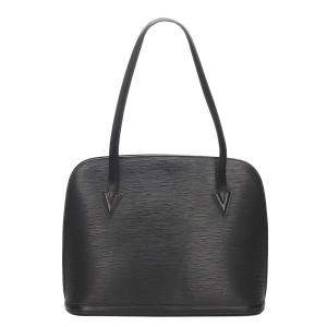 Louis Vuitton Black Epi Leather Lussac Bag