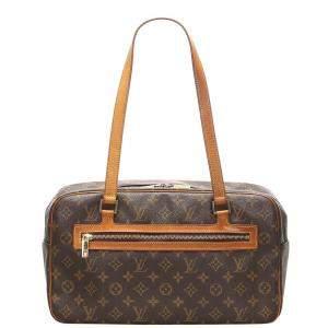 Louis Vuitton Brown Monogram Canvas Cite GM Bag