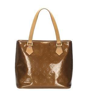 Louis Vuitton Brown Monogram Vernis Houston Tote Bag