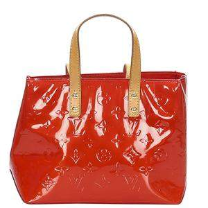 Louis Vuitton Red Leather Reade PM Bag