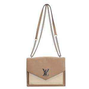 Louis Vuitton Brown/Beige Leather Mylockme BB Bag