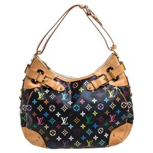 Louis Vuitton Black Multicolor Monogram Canvas Greta Bag