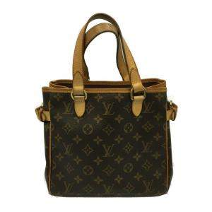 Louis  Vuitton Brown Monogram Canvas Batignolles Vertical Bag