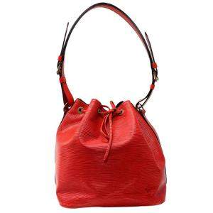 Louis Vuitton Red Epi Leather Petit Noe Bag