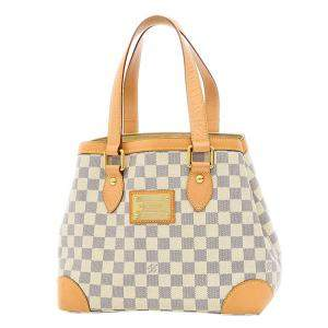 Louis Vuitton Ivory/Navy Damier Azur Canvas Hampstead PM Bag