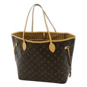 Louis Vuitton Brown Monogram Canvas Neverfull MM Bag