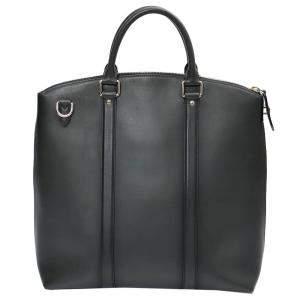 Louis Vuitton Black Leather Lockit Ombré Tote Bag