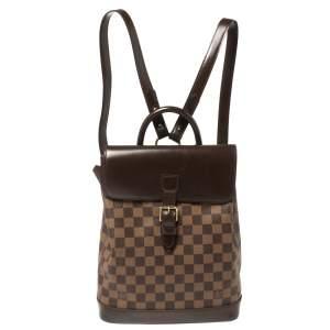 Louis Vuitton Damier Ebene Canvas Soho Backpack