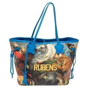 Louis Vuitton Multicolor Canvas Jeff Koons Rubens Neverfull MM Bag