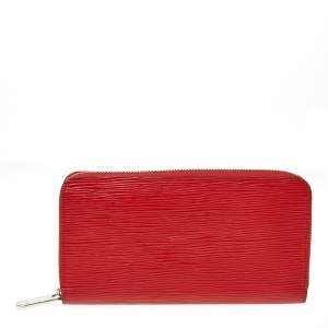 Louis Vuitton Coquelicot Epi Leather Zippy Wallet