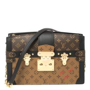 Louis Vuitton Reverse Monogram Canvas Trunk Clutch Bag