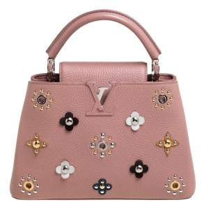 Louis Vuitton Magnolia Taurillon Leather Mechanical Flower Capucines BB Bag