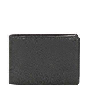 Louis Vuitton Black Taiga Leather Bi-fold Small Wallet