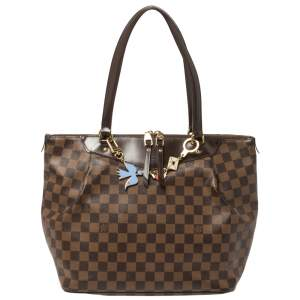 Louis Vuitton Damier Ebene Canvas Westminster GM Bag with Charm