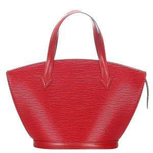 Louis Vuitton Red Leather Saint Jacques Short Strap PM Bag