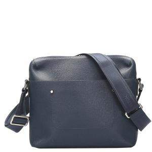 Louis Vuitton Blue Taiga Leather Grigori MM Bag